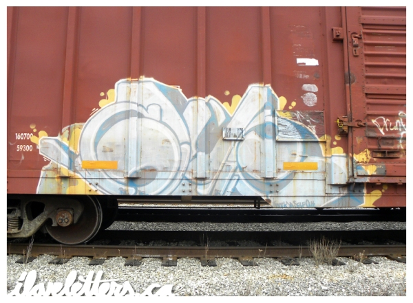 glue freight train graffiti