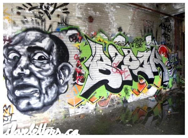 BLOCK WALL MONTREAL GRAFFITI