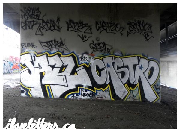 JAZZ CASTRO BOMB MONTREAL GRAFFITI
