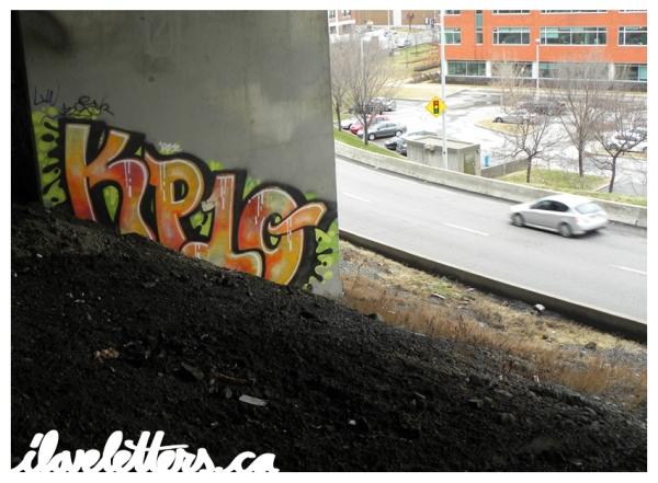 KP10S BOMB MONTREAL GRAFFITI