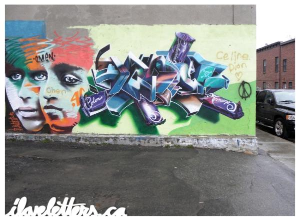 OMEN WALL MONTREAL GRAFFITI