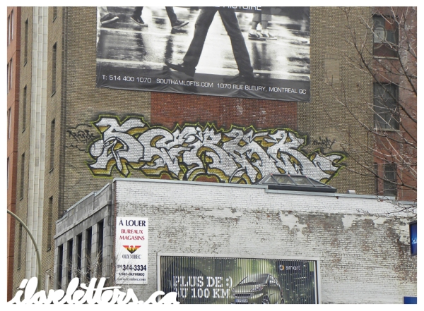 SERAK BOMB MONTREAL GRAFFITI
