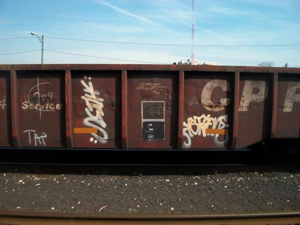 virus graffiti freight train