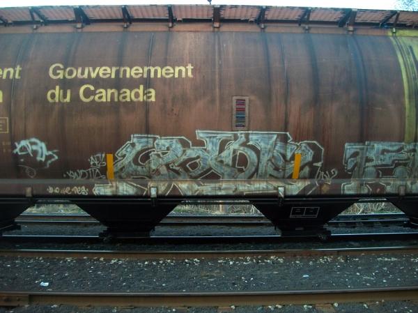 alone graffiti freight train