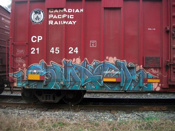 smack graffiti freight train