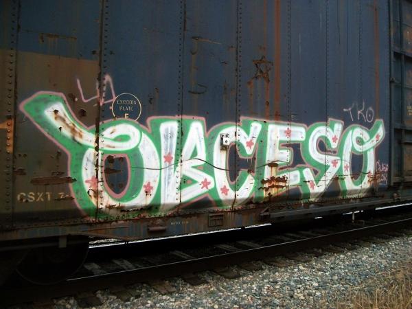 obceso graffiti freight train