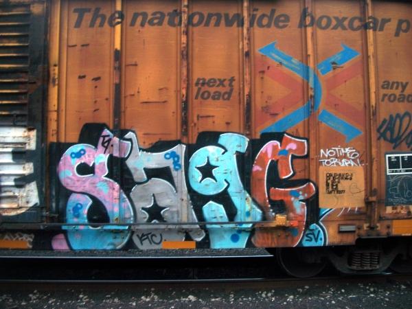 sag graffiti freight train
