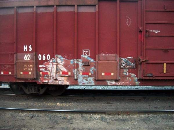 dreos graffiti freight train