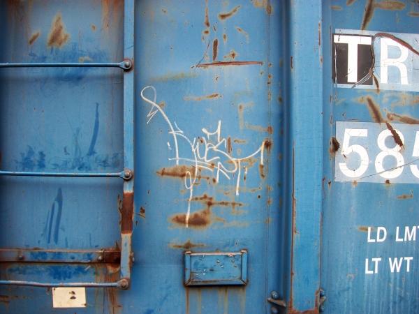 kwest graffiti freight train