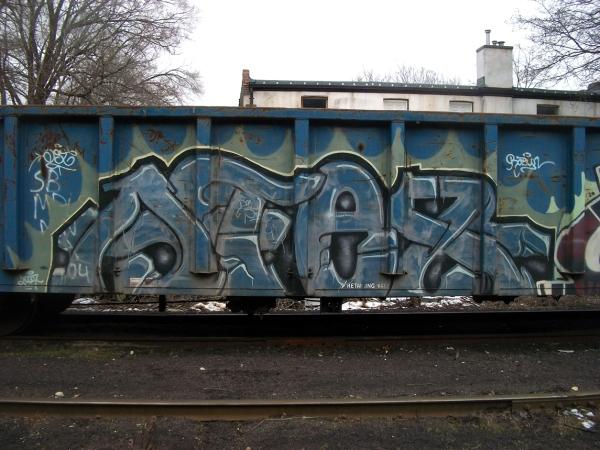afex graffiti freight train